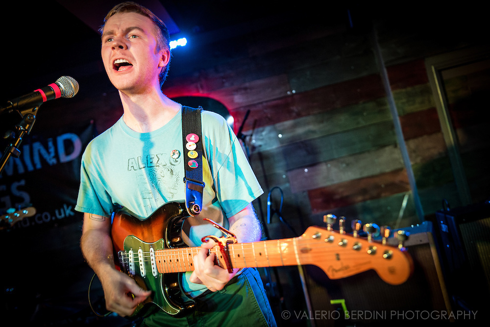 Evan Stephens Hall of Pinegrove live at the Portland Arms in Cambridge - UK, touring their debut album Cardinal. 26 Feb 2017