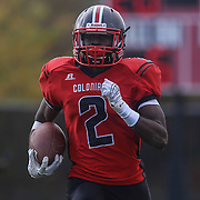 William Penn wide receiver Chigozirim Amachi (2) runs down the sidelines towards the end zone during a regular season football game between William Penn and Concord Saturday, Oct. 24, 2015 at  William Penn High School in New Castle.
