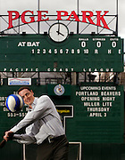 Merritt Paulson, the young, new owner of the Portland Beavers and Timbers, has plans for the teams. He spends a lot of time in his PGE Park office though ventures often down on the field and throughout the stadium...