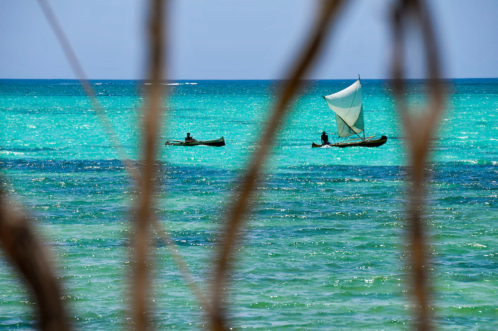 Fishing in Madagascar - Because of deforestation and climate change rain has in the last decades become harder to predict and consequently has the production of crops for farmes. Some of these farmers have moved to vezu fishing villages along the coast to support their families with fishing instead. Now fish are also becoming more scarce and WWF is running projects where volunteers teach the fishermen how to fish sustainably not to outfish the waters...Photographer: Chris Maluszynski /MOMENT