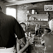 Ficksburg, South Africa.  The bar at the polo club.