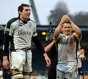 Wycombe, ENGLAND, left Nick Kennedy and Robbie Russell, London Wasps vs London Irish  Guinness Premiership Rugby, at the, Causeway Stadium, © Peter Spurrier/Intersport-images.com,  / Mobile +44 [0] 7973 819 551 / email images@intersport-images.com.