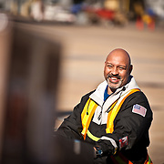 Southwest Airlines Cargo handler on the ramp at Love field in Dallas, Texas