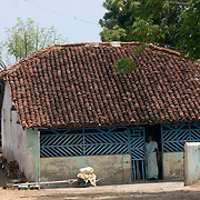 INDIA. Fisherman's home in Velankani. South India. Tamil Nadu State.