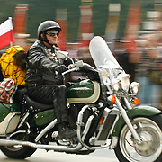 Polish motor bikers start to Katyn