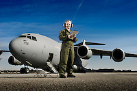 A U.S. Air Force loadmaster conducts a preflight checklist during engine start up...Air Force aircraft transport most of the supplies and military equipment to the combat zone. Specialists must weigh, sort and load all of the gear before it heads to its location abroad. Air Force loadmasters and pilots ensure the safe transport of all equipment required in the field.