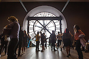 Visitors to the Musée d'Orsay in Paris.