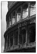 The Colosseum was built four stories hight, three of which represent respectively the Doric, Ionic and Corinthian orders.  Noticeable by the detail differentiation located at the top of each column.