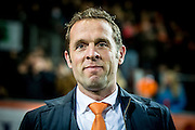 ROTTERDAM - Nederland - Zweden , Voetbal , Seizoen 2015/2016 , damesvoetbal , vrouwen , Olympisch kwalificatie toernooi , Sparta Stadion het Kasteel , 09-03-2016 , Nederland trainer coach Arjan van de Laan