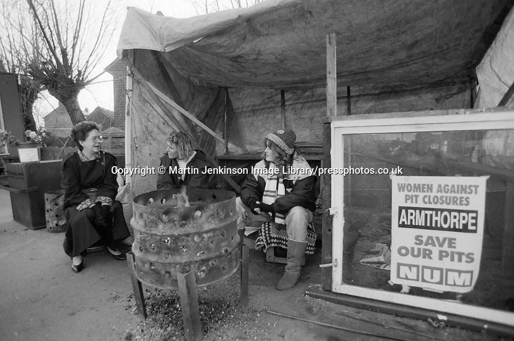 WAPC pit camp Armthorpe 11 January 1993