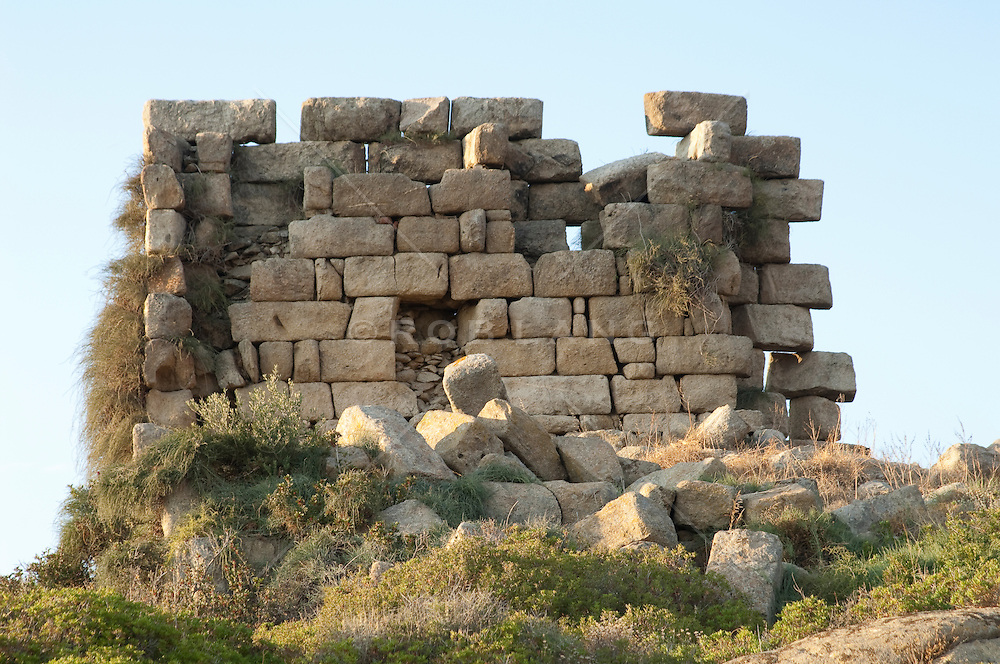 detail of ruins in Naxos, Greece