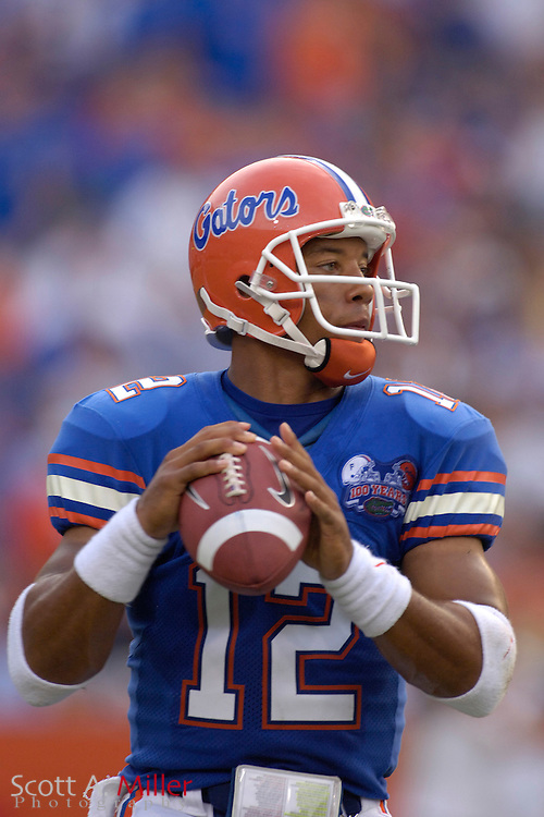 Sept. 9, 2006; Gainesville, FL, USA; Florida Gators Chris Leak in action during the first half of the Gators' game against the Central Florida Golden Knights at Ben Hill Griffin Stadium. ...©2006 Scott A. Miller