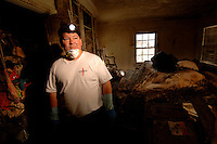 """""""The hurricane did pass and we were high and dry until the levy broke, when we proceeded to get 8 feet of water... We realized things were not going to be the way they were before.""""  Guy Curry's home in Lakewood, LA was complete destroyed by the flood waters after the levy broke following hurricane Katrina two months ago."""