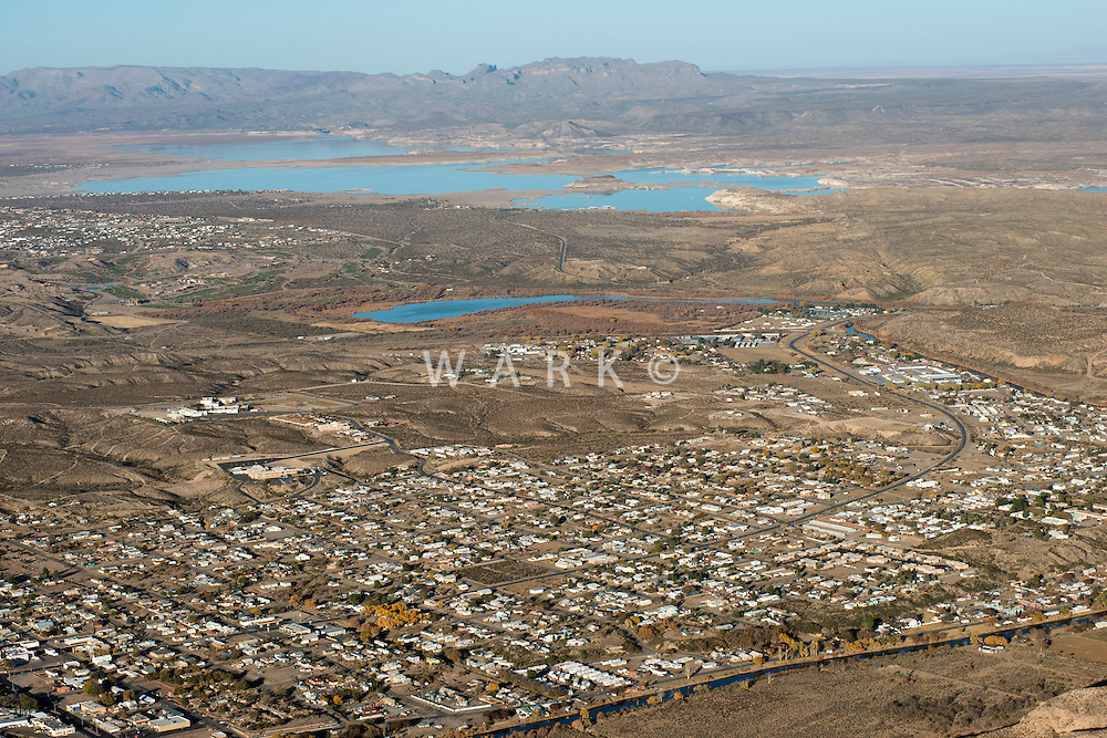 Aerial of Truth or Consequences, New Mexico.  Nov 2012
