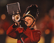 Lafayette High band members perform at halftime vs. North Pontotoc in high school football playoff action in Oxford, Miss. on Friday, November 5, 2010.