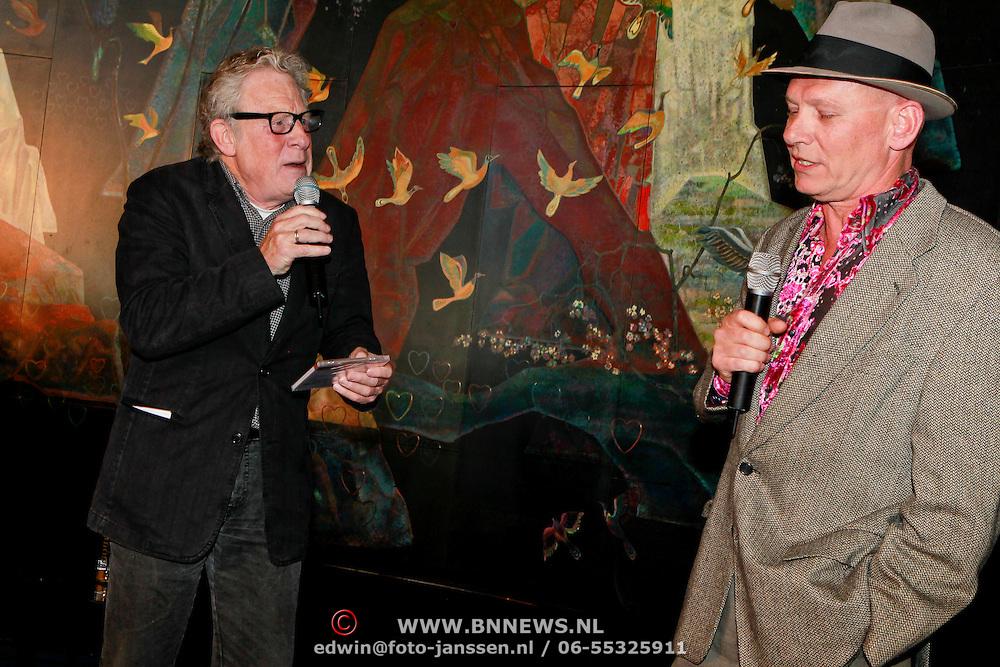 NLD/Rotterdam/20110418 - CD presentatie Toen Was Geluk Heel Gewoon van Sjoerd Pleijsier, Huib Rooymans en Sjoerd Pleijsier