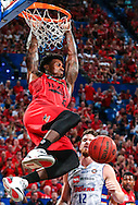 PERTH - AUSTRALIA, February 14, 2016: Casey Prather of the Perth Wildcats dunks the ball during the round 19 NBL game between the Perth Wildcats and the Adelaide 36ers at Perth Arena.