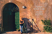 Tearsheet from portrait features and portrait assignments and corporate work..The Australian way : Virginia Ryan in Umbria , italy page 1/2..© Daniele Mattioli / Anzenberger