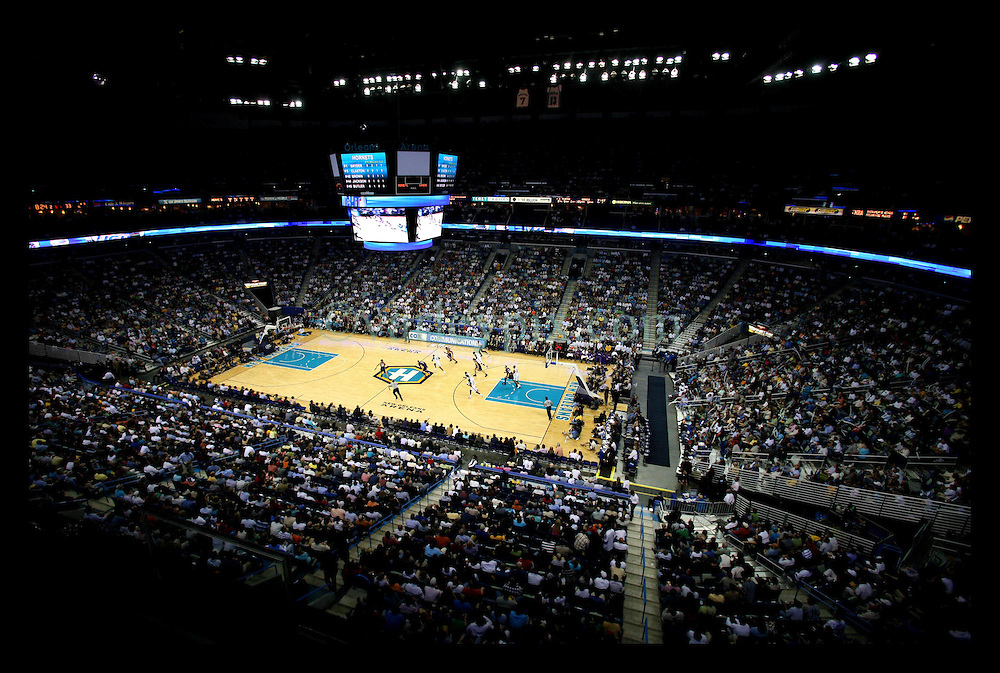 March 8th, 2006. New Orleans, Louisiana. Six months after hurricane Katrina the New Orleans Arena hosts its first professional basketball game with the local Hornets against the Lakers. The arena was packed for the event with fans delighted to have their team back in town.