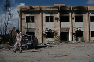 Libya, Zliten: Aftermath of the terror attack at Zliten police base that left 62 dead and almost 150 wounded. <br />