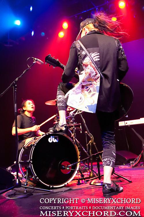 MIYAVI performs at Grove of Anaheim in Anaheim California USA on June 13, 2010