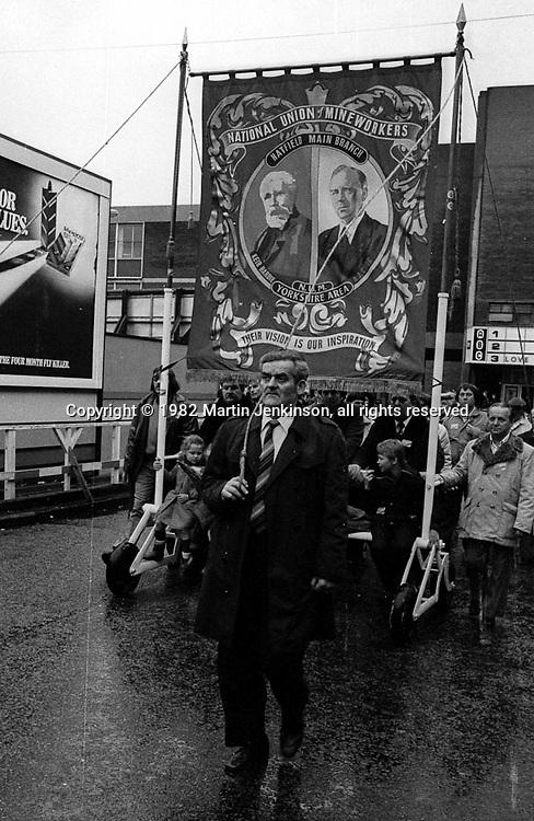 Hatfield Main banner, 1982 Yorkshire Miner's Gala. Doncaster