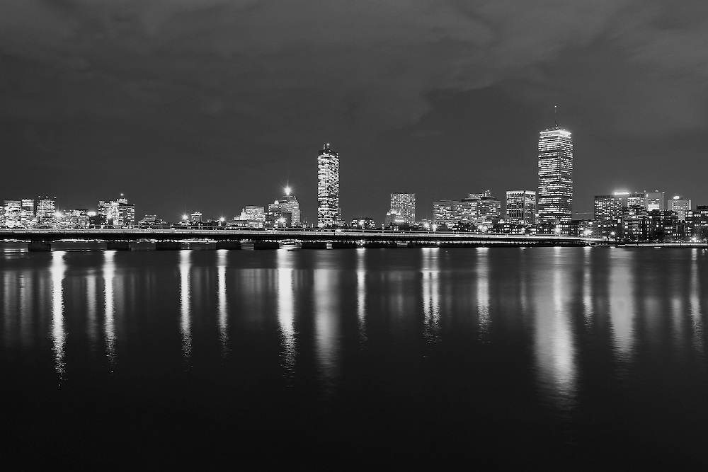 Photo prints, canvas prints, metal prints, framed prints, matted prints, print only at <br /> <br /> http://juergen-roth.pixels.com/featured/back-bay-skyline-juergen-roth.html