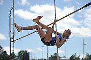 Oxford High's Hayden Hudson participates in the pole vault in the MHSAA Class 5A North Half Track Meet in Oxford, Miss. on Saturday, May 4, 2013.