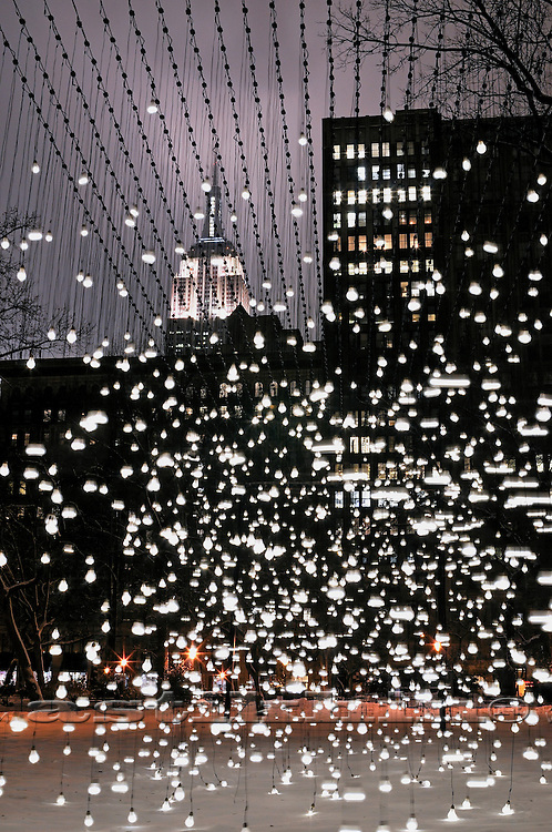 Jim Campbell's Scattered Light in New York City.
