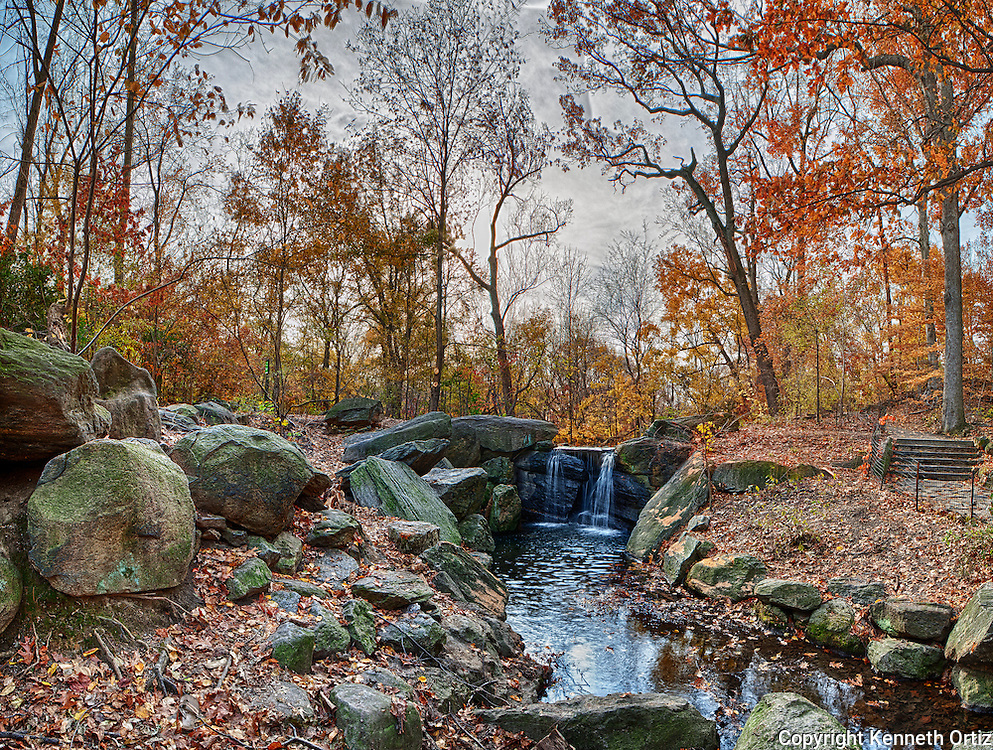 One of two waterfalls located on the West side of Central Park in New York City.