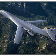 B-1B bomber in Black Hills, air-to-air