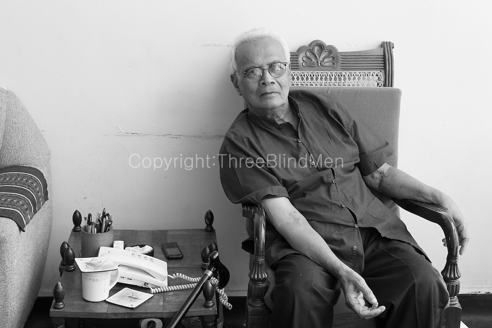 Prof. Merlin Peris, in Kandy. He's emeritus Prof of Classics at Peradeniya