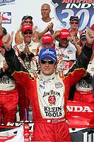 Dan Wheldon wins at the Chicagoland Speedway, September 11, 2005