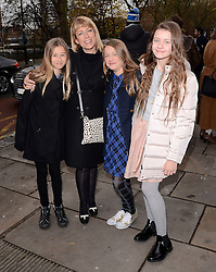 Fay Ripley, daughter Parker and Guests attend A VIP Gala Performance of Matthew Bourne's Edward Scissorhands at Saddlers Wells Theatre, Rosebery Avenue, London on Sunday 7th December 2014