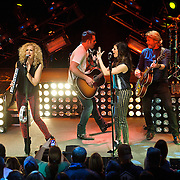 """WASHINGTON, DC - February 14th  2013 - Kimberly Schlapman, Jimi Westbrook, Karen Fairchild and Phillip Sweet of Little Big Town perform at the 9:30 Club in Washington, D.C. The band's 2012 album, """"Tornado,"""" contains the hit single """"Pontoon,"""" which recently won Best Country Duo/Group Performance at the 55th Grammy Awards. (Photo by Kyle Gustafson/For The Washington Post)"""