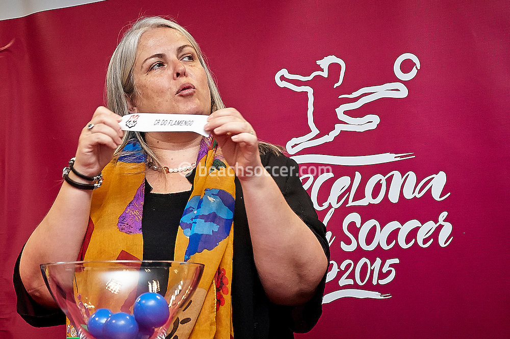 BARCELONA, SPAIN - APRIL 17: Press Conference presentation of the Barcelona Beach Soccer Cup 2015 at the Ciutat Esportiva FC Barcelona on April 17, 2015 in Barcelona, Spain. (Photo by David Aliaga)