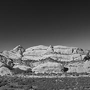 Mormon Rocks - Elevated North View - Infrared Black & White