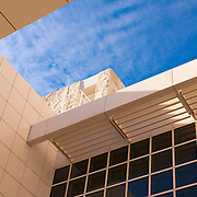 USA, California, Los Angeles. Exterior architecture at the Getty Center.