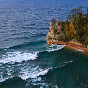 &quot;Rushing Waves at Miners Castle&quot; <br /> <br /> Beautiful breaking waves at Miners Castle at Pictured Rocks National Lake Shore near Munising Michigan!