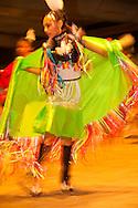 Teenager, Fancy Shawl Dancer, Milk River Indian Days Pow Wow, Fort Belknap Indian Reservation, Montana