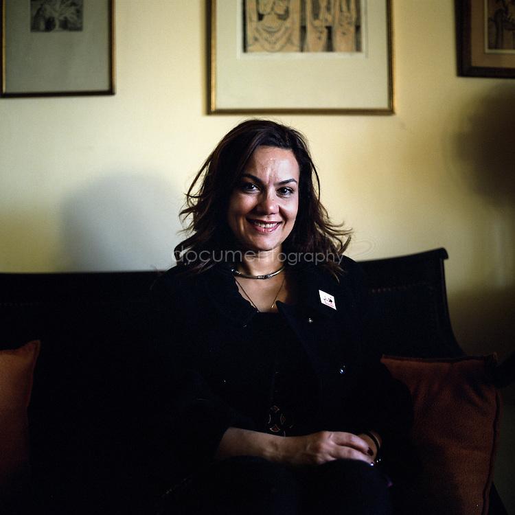 Bosayna Kamel at home, Cairo, Egypt.