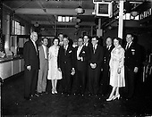 """1962 - Crew members of the """"Cambria"""" touring W.D. and H.O. Wills factory, Dublin"""