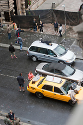 "Filming of a crash scene with dummies on top of cars, on the third day of the movie ""World War Z"" being shot in the city centre of Glasgow. The film, which is set in Philadelphia, is being shot in various parts of Glasgow, transforming it to shoot the post apocalyptic zombie film."
