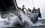 Image licensed to Lloyd Images <br /> The Royal Yacht Squadron Bicentenary Regatta . Pictures of the maxi &quot;Jethou&quot; shown here racing around the Isle of Wight as part of the 200th anniversary sailing week.<br /> Credit: Lloyd Images