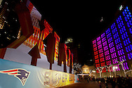 Jan. 28, 2012; Indianapolis, IN, USA; Super Bowl display set up at Monument Circle in Indianapolis, Indiana during Super Bowl XLVI.  Mandatory credit: Michael Hickey-US PRESSWIRE