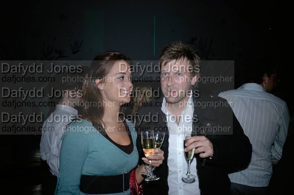 SOPHIE GOODALE AND JAMIE PEARCE, Opening of a private members club. Island-Hungerford Lane. London WC2. 12 April 2007.  -DO NOT ARCHIVE-© Copyright Photograph by Dafydd Jones. 248 Clapham Rd. London SW9 0PZ. Tel 0207 820 0771. www.dafjones.com.