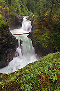 Spring at Upper Little Qualicum Falls at Little Qualicum Falls Provincial Park in the Nanaimo Regional District, British Columbia, Canada