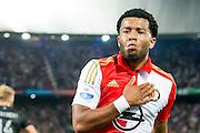 ROTTERDAM - Feyenoord - FC Utrecht , Voetbal , Seizoen 2015/2016 , Eredivisie , Stadion de Kuip , 08-08-2015 , Speler van Feyenoord Tonny Vilhena viert de 2-1