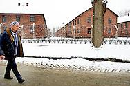26-1-2015 - auschwitz - Igor Malicky, 89, uit Krakau.<br />   amilymember and the surivors of Auswitz one day before  the 70 years commemoration in Camp auschwitz Birkenau in poland  . COPYRICHT ROBIN UTRECHT