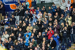 The south stand celebrates after Rory Loy scored. Falkirk 1 v 3 Rangers, Scottish League Cup game played 23/9/2014 at The Falkirk Stadium.